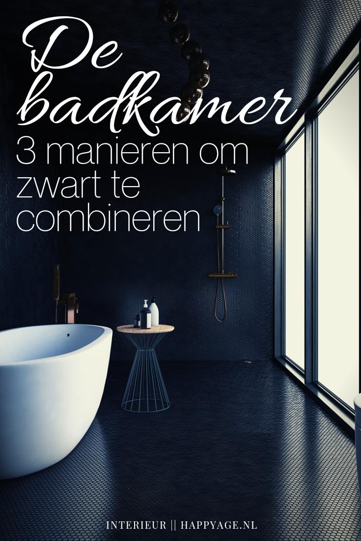 De badkamer zwart